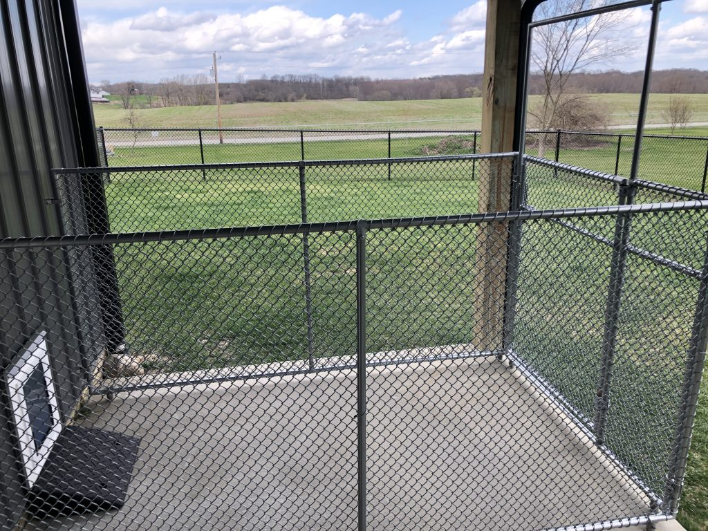 Outdoor kennel with seperate enclosed yard
