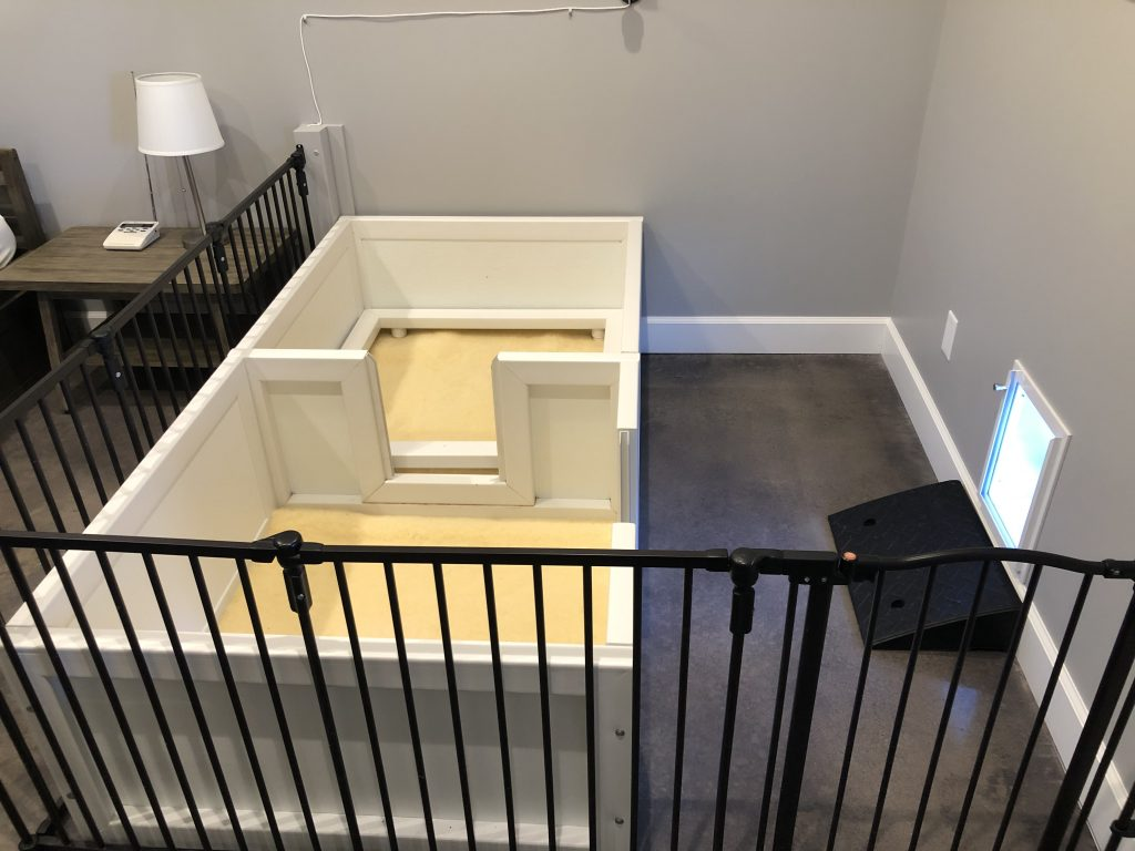 whelping/weaning room